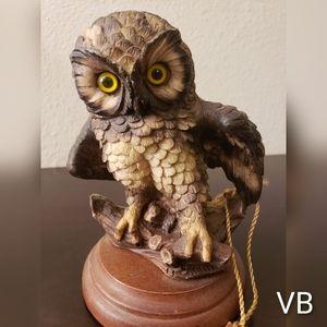 Vintage Capodimonte Santini Owl Figurine With Cert